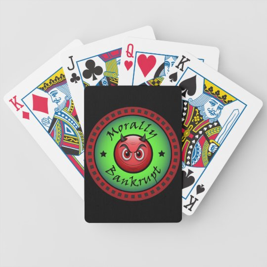 Morally Bankrupt! Bicycle Playing Cards