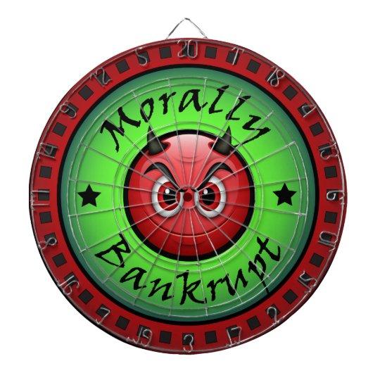 Morally Bankrupt! Dartboard With Darts