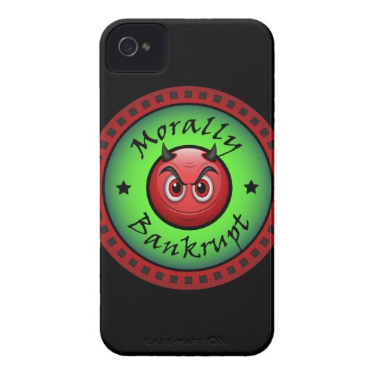 Morally Bankrupt! iPhone 4 Case-Mate Cases