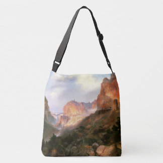 Moran Yellowstone Falls Golden Gate Tote Bag