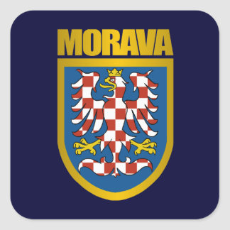Morava (Moravia) Crest Square Sticker
