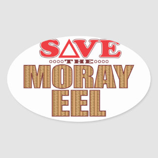 Moray Eel Save Oval Sticker