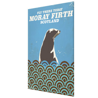 Moray Firth vintage travel poster Canvas Print