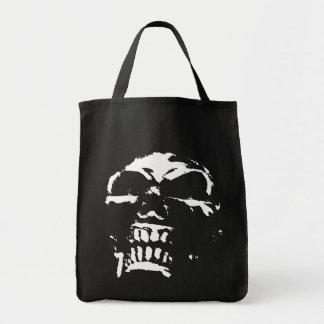 Morbid Skull Grocery Bag