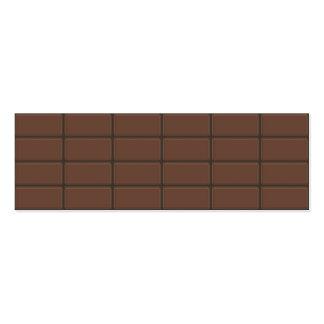 Morceaux de barre de chocolat cartes de visite personnelles