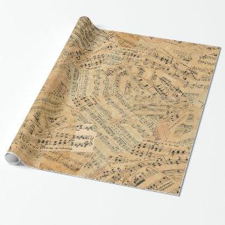 Morceaux de musique vintage POMVa Papier Cadeau Noël