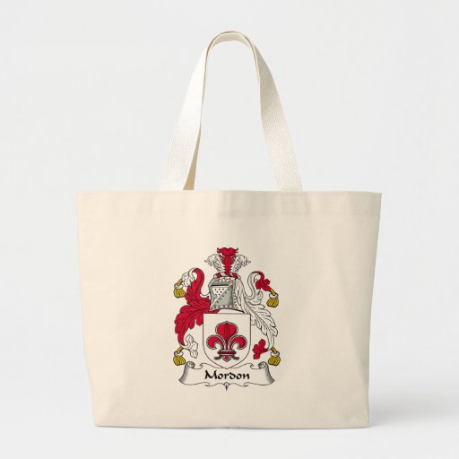 Mordon Family Crest Tote Bags