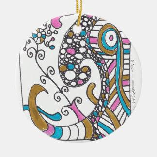 more april doodles christmas ornament