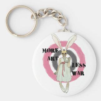 More Art Less War Basic Round Button Keychain