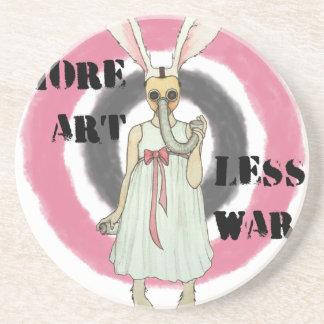 More Art Less War Coaster