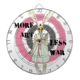 More Art Less War Dartboard