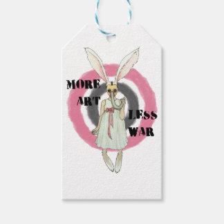 More Art Less War Gift Tags