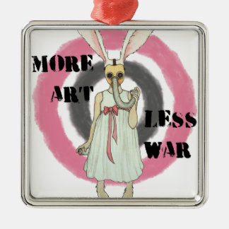 More Art Less War Metal Ornament