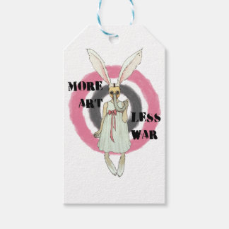 More Art Less War Pack Of Gift Tags