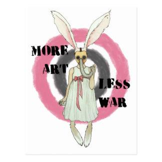 More Art Less War Postcard