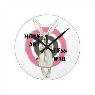 More Art Less War Round Clock