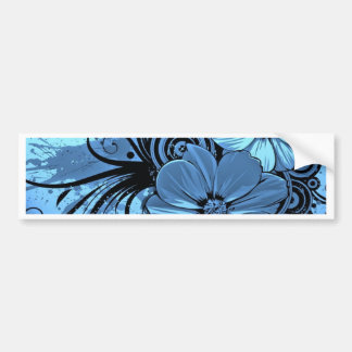 More blue flowers bumper sticker