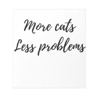 More Cats, Less Problems Notepad