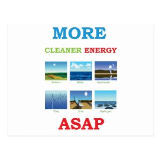 more cleaner energy asap postcard