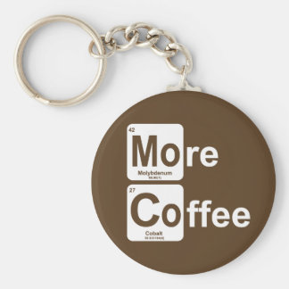 More Coffee Periodic Table Keychain