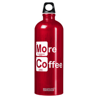 More Coffee Periodic Table Water Bottle