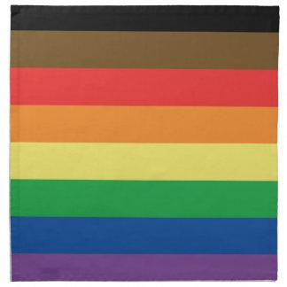 More Color More Pride Rainbow Customizable LGBT Napkin
