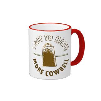 MORE COWBELL -funny/humor/music/rock music/drummer Ringer Coffee Mug