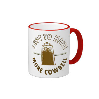 MORE COWBELL -funny/humor/music/rock music/drummer Ringer Coffee Mug