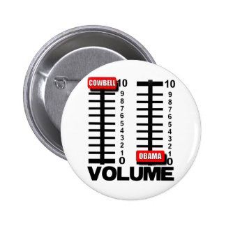 More Cowbell - Less Obama 2 Inch Round Button