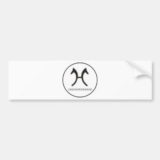 more hannoveraner bumper sticker