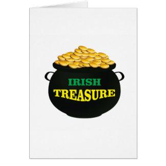 more Irish Treasure Card