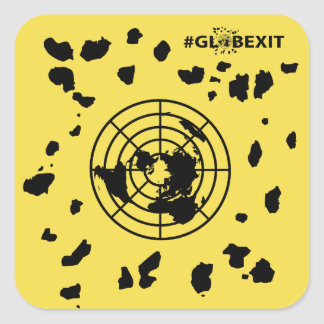 More Land #GLOBEXIT Round Corner Stickers
