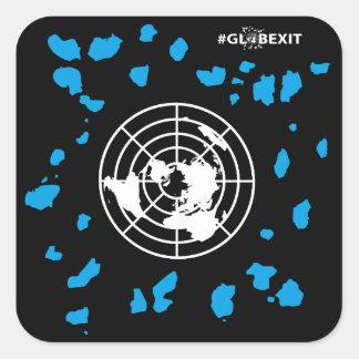 More Land #GLOBEXIT Round Corner Stickers (B)