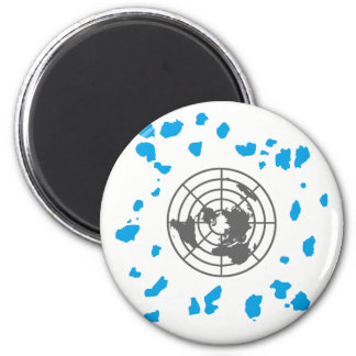 MORE LAND #GLOBEXIT Round Magnet