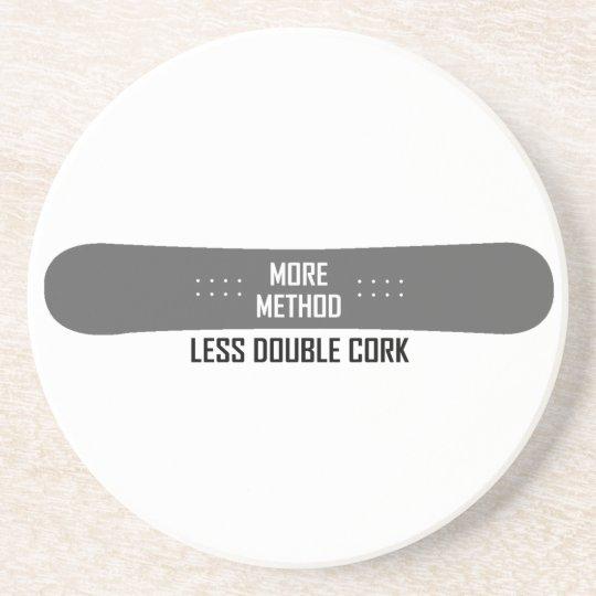 More Method Less Double Cork Beverage Coaster