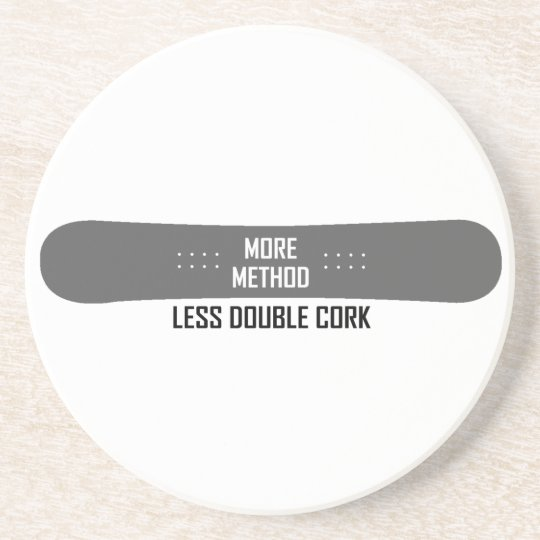 More Method Less Double Cork Coaster