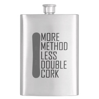 More Method Less Double Cork Hip Flask
