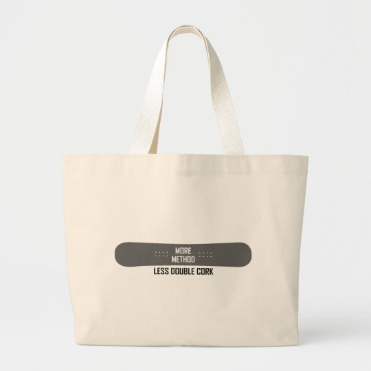 More Method Less Double Cork Large Tote Bag