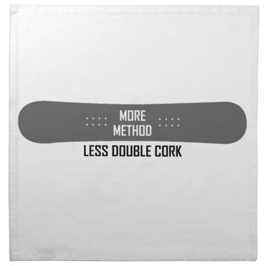 More Method Less Double Cork Napkin