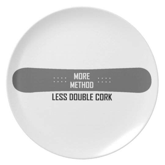 More Method Less Double Cork Party Plates