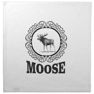 more moose ring napkin