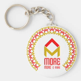 more more and more basic round button keychain