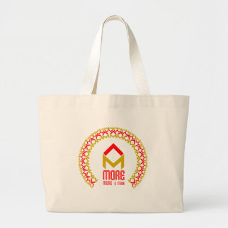 more more and more large tote bag