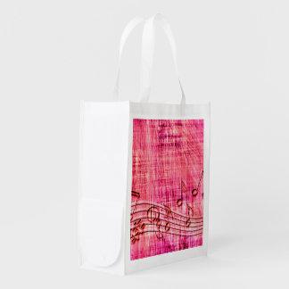 More music reusable grocery bag