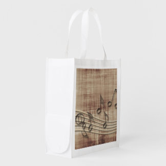 More music reusable grocery bags