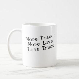 More Peace More Love Less Trump AntiTrump Gift Coffee Mug