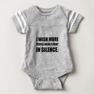 More People Fluent In Silence Baby Bodysuit