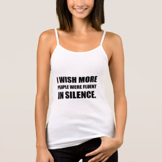 More People Fluent In Silence Tank Top