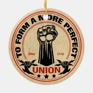 More Perfect Union 1016 Round Ceramic Ornament