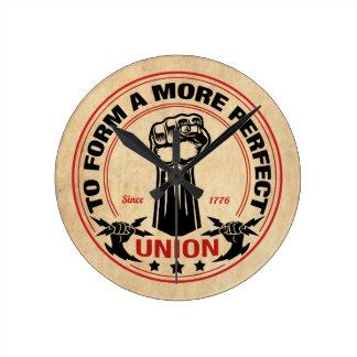 More Perfect Union 1016 Round Clock